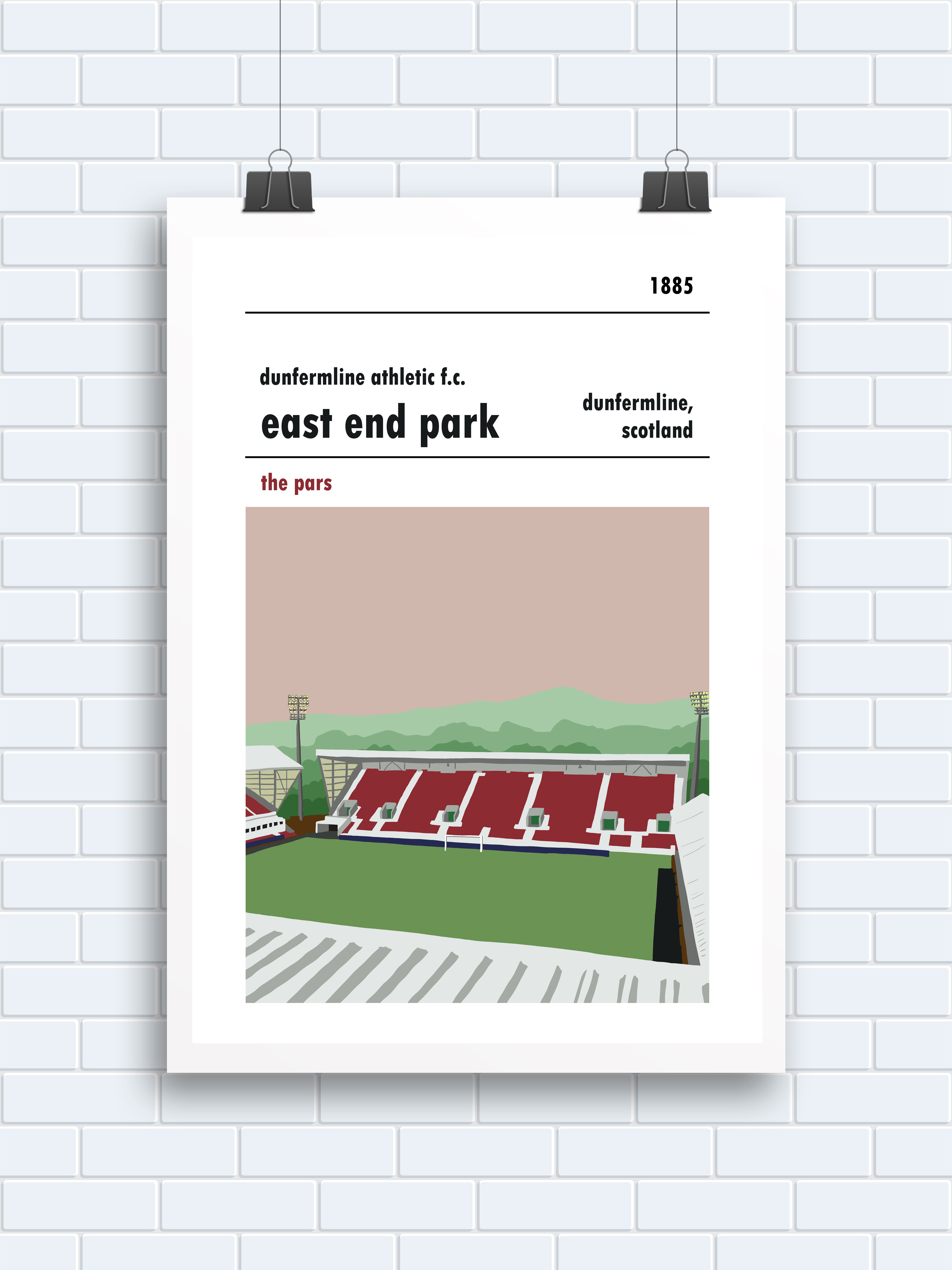 East End Park, Dunfermline. Stadium