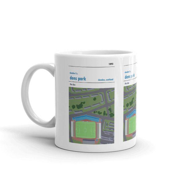 Retro football mug of Dundee FC and Dens Park