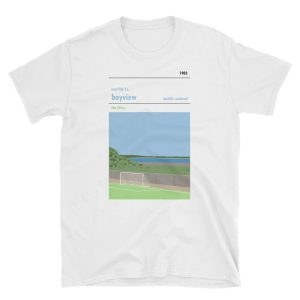 A white t-shirt of East Fife and Bayview