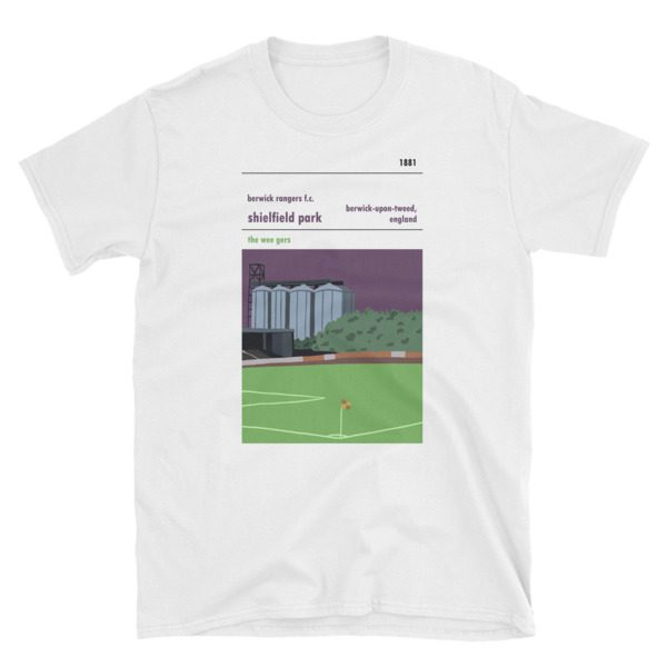 White t-shirt of Shielfield Park and Berwick Rangers FC