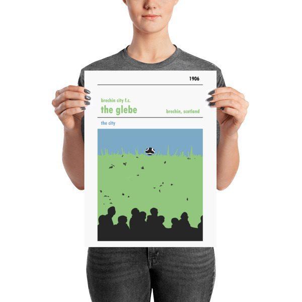 A medium sized football poster of Brechin City FC and Glebe Park