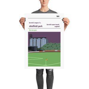 A large stadium poster of Shielfield Park, Berwick Rangers FC