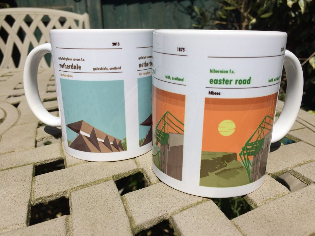 Netherdale and Easter Road Mugs
