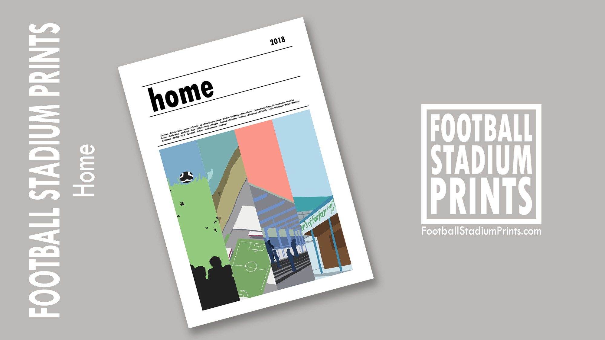 Scottish Football Stadium Prints Book