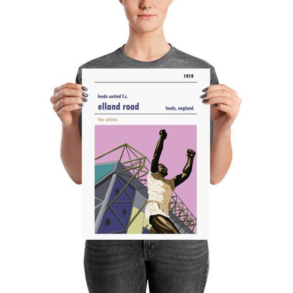 Medium football poster of Elland Road and Leeds United FC