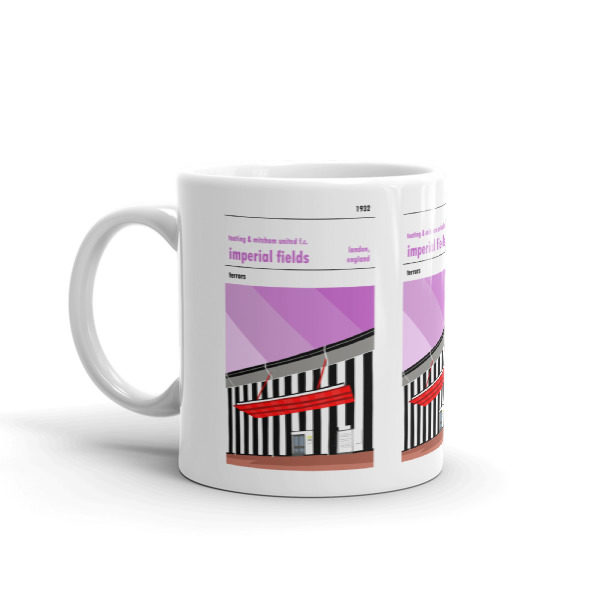 A mug of Tooting and Mitcham United FC and Imperial Fields