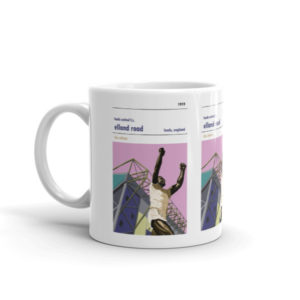 A coffee mug of Elland Road and Leeds United FC