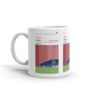A coffee mug of Peterhead FC and Balmoor