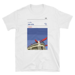 White San Siro and AC Milan T-Shirt