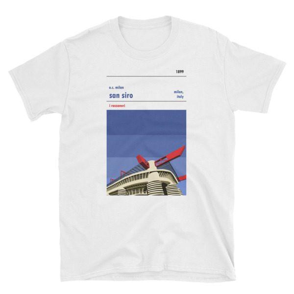 White San Siro and AC Milan T-Shirt