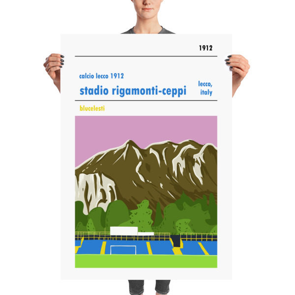 Massive football poster of Calcio Lecco 1912