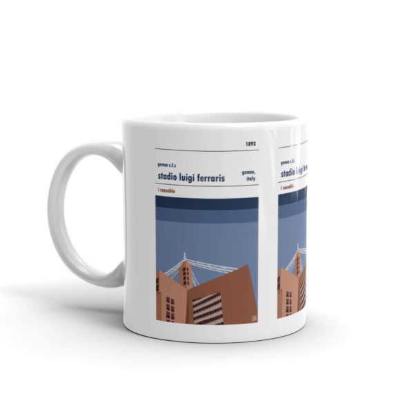 Coffee mug of Genoa and Stadio Luigi Ferraris