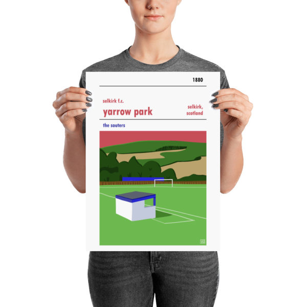 A medium sized Selkirk FC and Yarrow Park poster