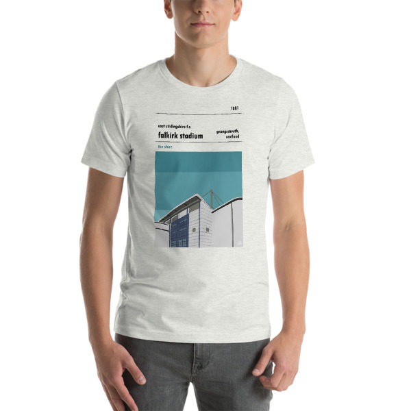 A t shirt of East Stirlingshire FC and Falkirk Stadium
