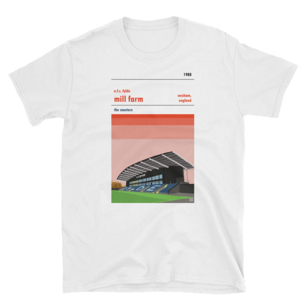 A Mill Farm and AFC Fylde white t shirt