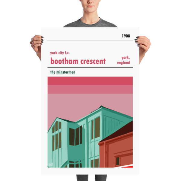 A retro poster of York City FC and Bootham Crescent