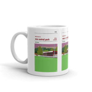 A coffee mug of Kelty Hearts FC and New Central Park