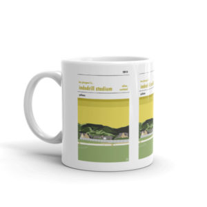 A coffee mug of BSC Glasgow FC and Indodrill Stadium