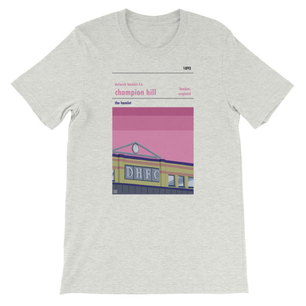 A grey t shirt of Dulwich Hamlet FC and Champion hill