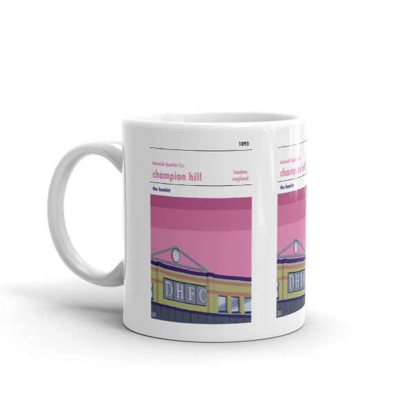 A coffee mug of Champion Hill and Dulwich Hamlet FC
