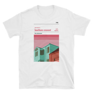 A white t shirt of Bootham Crescent and York City FC