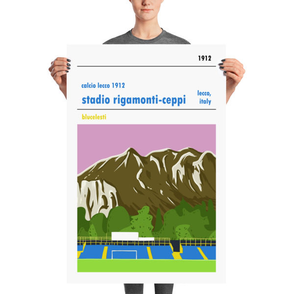 Huge football poster of Calcio Lecco 1912
