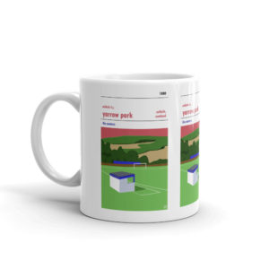 A coffee mug of Selkirk Park and Yarrow Park