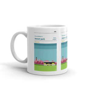 A coffee mug of Forres Mechanics and Mosset Park