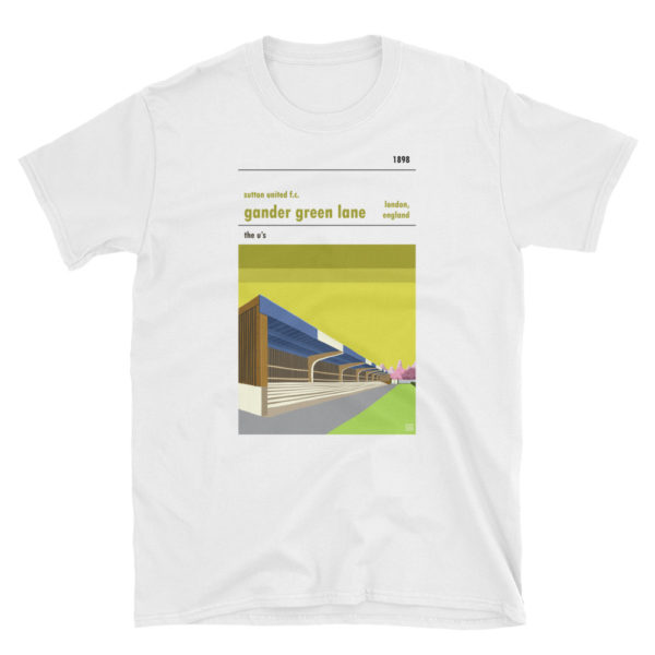 A Sutton United FC and Gander Green Lane t shirt