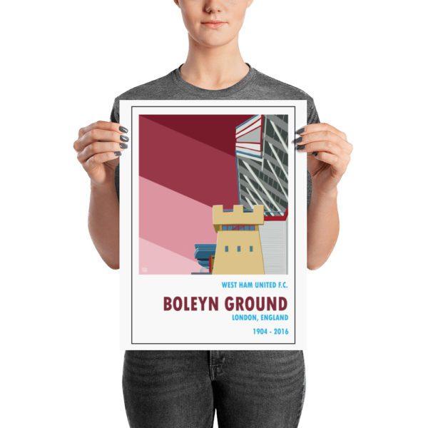 A medium sized football poster of Boleyn Ground and West Ham United