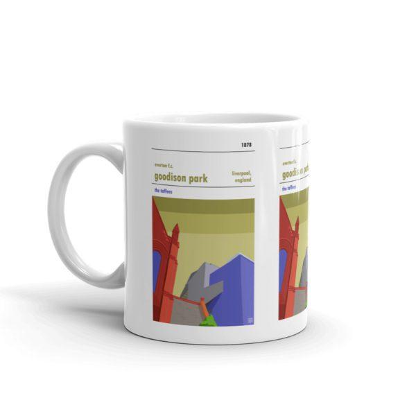 A coffee mug of Everton and Goodison Park