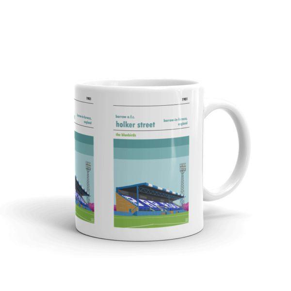 A coffee mug of Holker Street and Barrow AFC