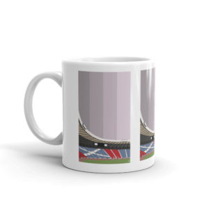A simple Hampden Park and SFA mug