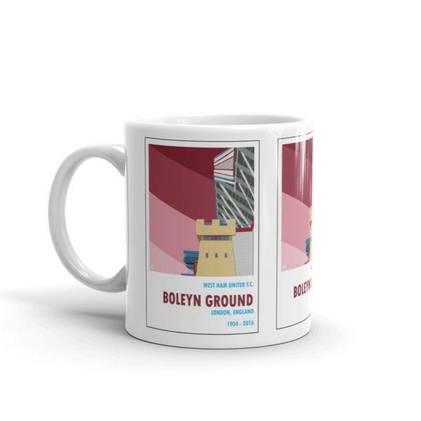 A coffee mug of West Ham United and Boleyn Ground