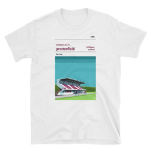 A white t shirt of Linlithgow Rose and Prestonfield