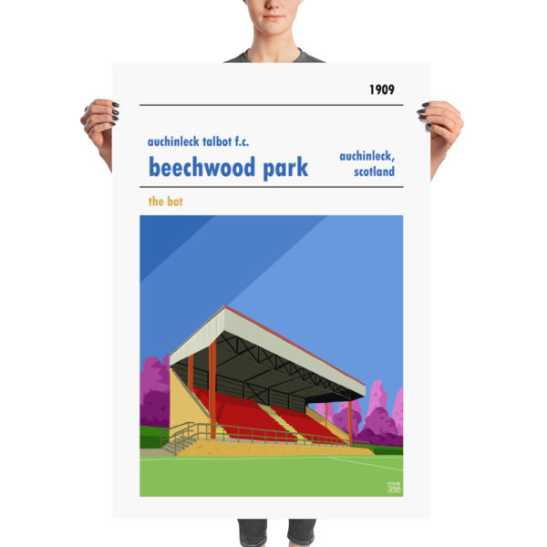 A huge football poster of Auchinleck Talbot and Beechwood Park