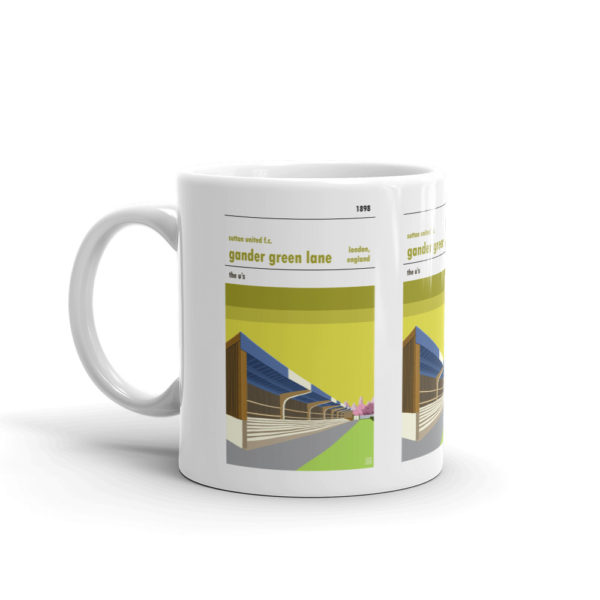 A coffee mug of Gander Green Lanes and Sutton United