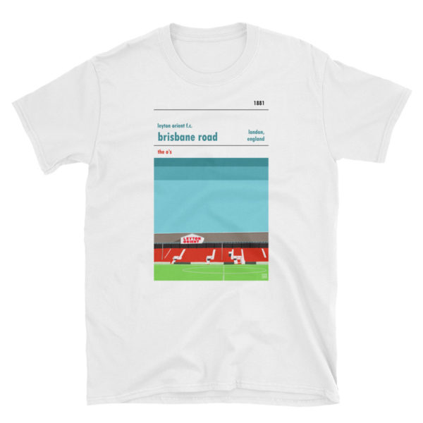 A white t shirt of Leyton Orient and Brisbane Road