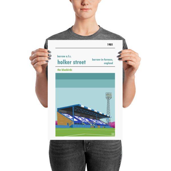 A medium football poster of Barrow AFC by Steve Stewart