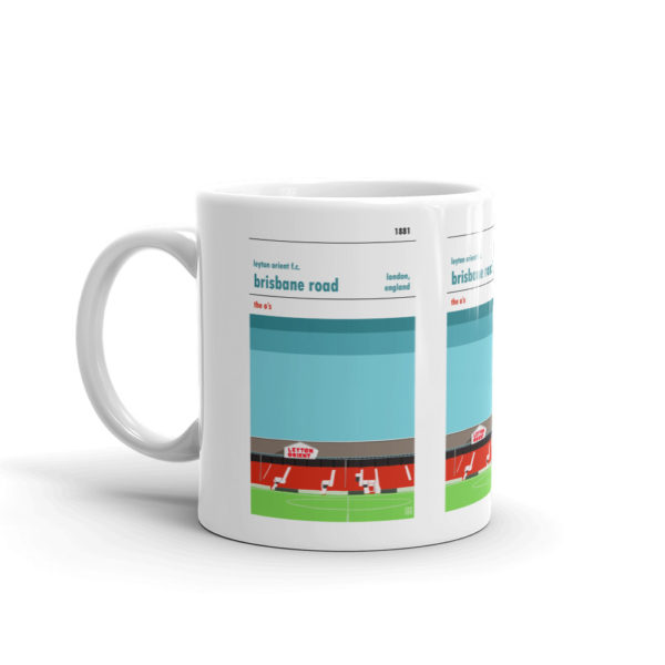 A coffee mug of Brisbane Road and Leyton Orient FC