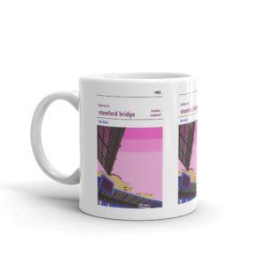 A coffee mug of Chelsea FC and Stamford Bridge