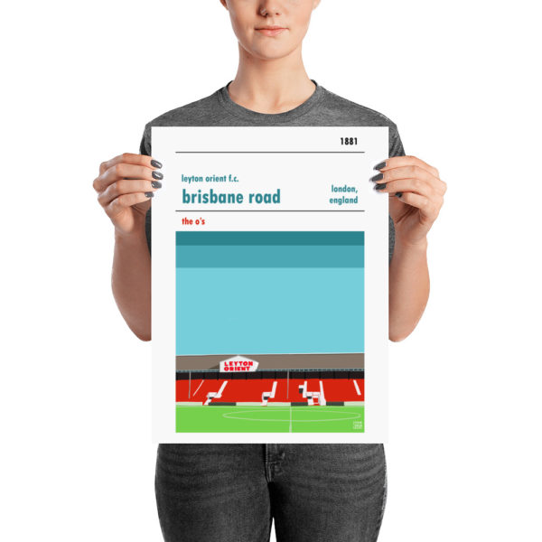 A medium sized football poster of Leyton Orient FC and Brisbane Road