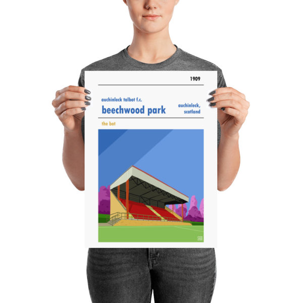 A medium football poster of Auchinleck Talbot and Beechwood Park