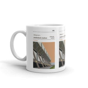 A coffee mug of Meadowbank Stadium and Edinburgh City FC
