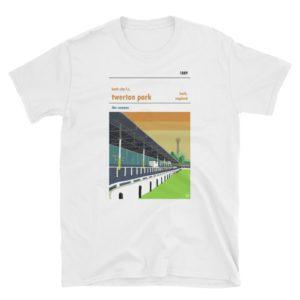 A white t shirt of Bath City and Twerton Park