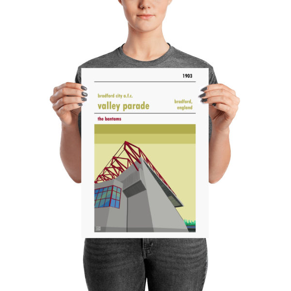 Medium sized football poster of Valley Parade and Bradford City AFC