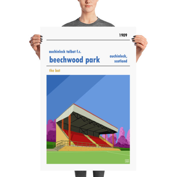 A large football stadium poster of Auchinleck Talbot and Beechwood Park
