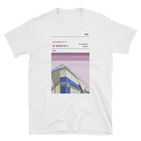 A t-shirt of St Andrew's, home of Birmingham City