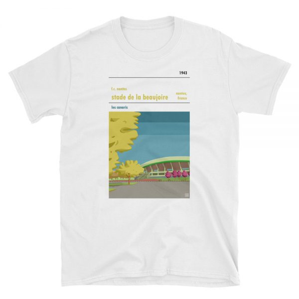 A white t shirt of FC Nantes and Stade de la Beaujoire