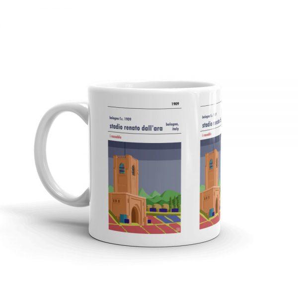 A coffee mug of Bologna FC and Stadio Renato Dall'Ara